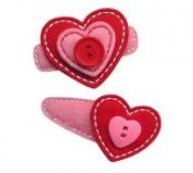 Stacked Heart Felt Clippies - Set of two clippies