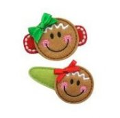 Gingerbread Felt Clippies - Set of two clippies