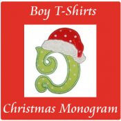 Boy Christmas/Winter Monogram Initial T-Shirts