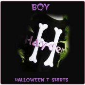 Halloween Monogram Initial T-Shirts: for Toddler and Big Boys