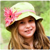 Big Kid Sun Hat - Choose your FLOWER & Ribbon