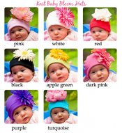 Jersey Knit Baby Bloom Hat with Flower