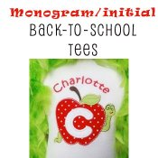 Boy Back to School MONOGRAM T-shirts -Toddler Boys and Big Boys