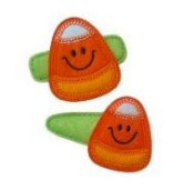 Candy Corn Felt Clippies - Set of two clippies