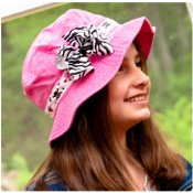 Big Kid Sun Hat - Choose Ribbon for Band and BOW