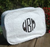 Personalized Terry Cloth Cosmetic Bag