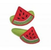 Watermelon Wedge Felt Clippies - Set of two hair clippies