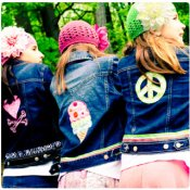 Girly Applique Denim Jackets - Choose Your Girly Design