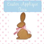 Girl Easter Applique T-shirts - Toddler & Big Girls