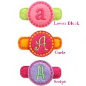 Circle Monogram Felt Clippies - Set of two clippies