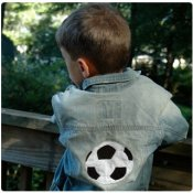 Boy SPORTS Applique Denim Jacket - Choose Your Sports Design