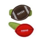 Football Felt Clippies - Set of two clippies