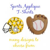 Girl SPORTS Applique T-shirts - Toddler and Big Girls