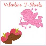 Girl Valentine Applique T-shirts - Toddler & Big Girls