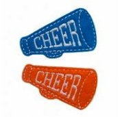 Megaphone Felt Clippies - Set of two hair clippies