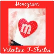 Girl Valentine Monogram Initial T-shirts - Toddler and Big Girls