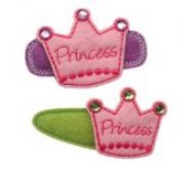 Princess Crown Felt Clippies - Set of two clippies