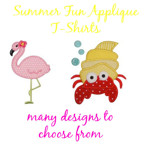 Boy Summer Fun Applique T-shirts - for Toddler Boys and Big Boys - Click Image to Close