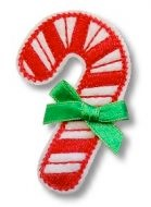 Candy Cane Felt Clippies - Set of two clippies