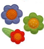 Flower Felt Clippies - Set of two clippies