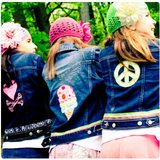 GIRL Summer Fun Applique Denim Jacket - Toddler & Big Girls - Click Image to Close
