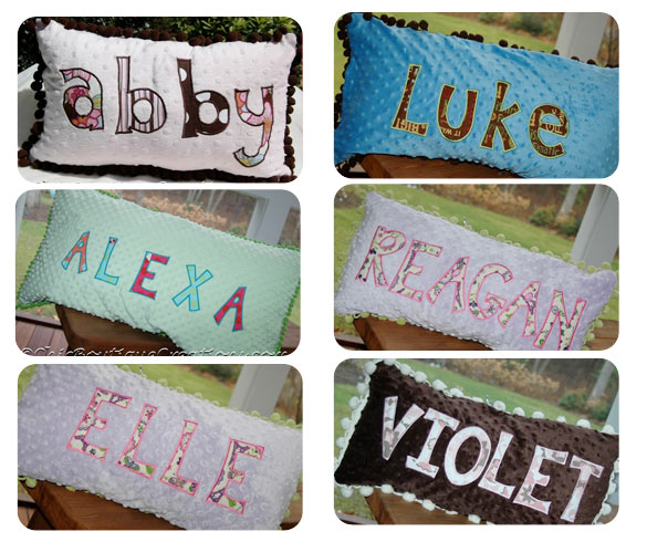 Personalized Applique Pillows - Click Image to Close