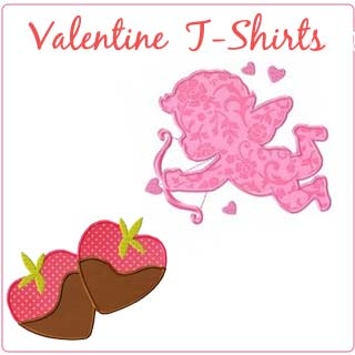 Girl Valentine Applique T-shirts - Toddler & Big Girls - Click Image to Close